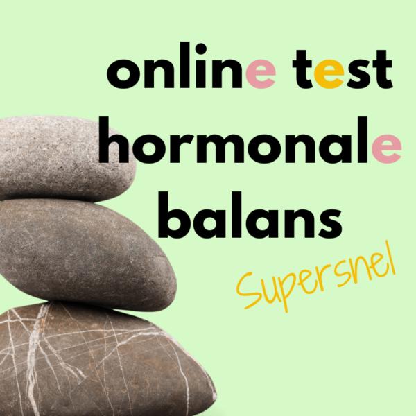 Uitgebreide online hormoonbalans test